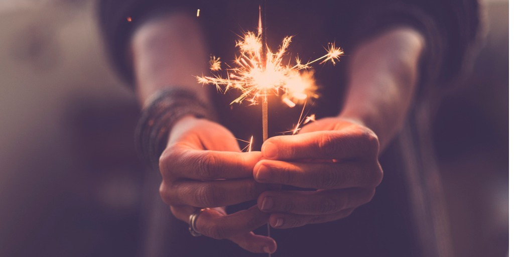 Picture of woman holding a sparkler