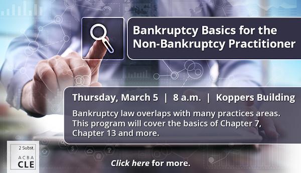 PAWB_ACBA CLE Bankruptcy Basics