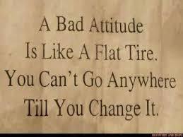 like a flat tire