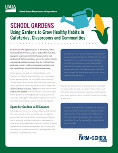First page of school garden fact sheet