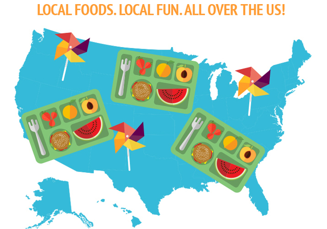 Local foods in summer meals
