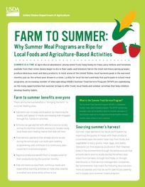 farm to summer fact sheet