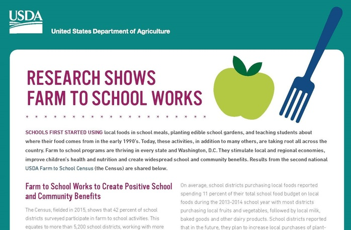 Farm to School Census Fact Sheet
