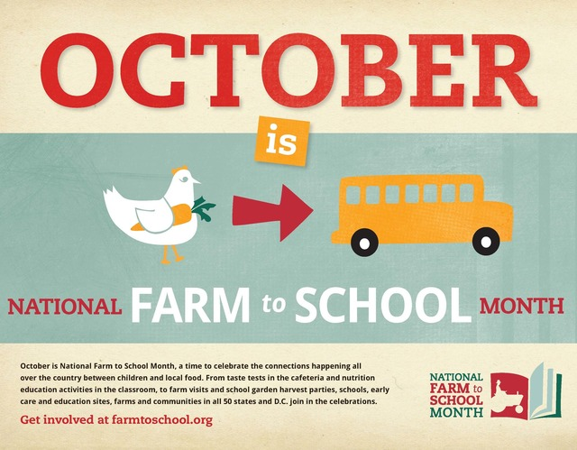 Farm to School Month Poster