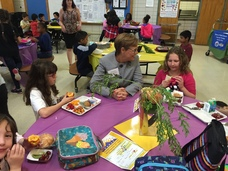 Katie Wilson talks with students on CO Proud School Meal Day