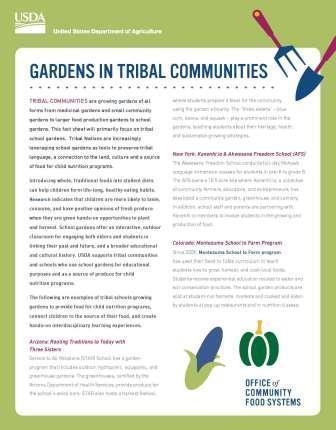 Gardens in Tribal Communities