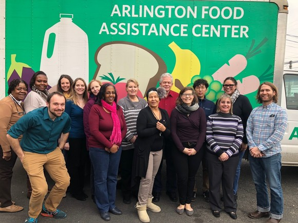 Volunteering at Arlington Food Assistance Center