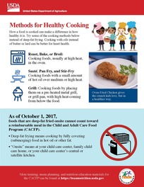Methods for healthy cooking