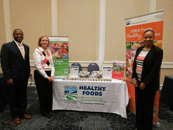 USDA Foods booth at Ohio meeting