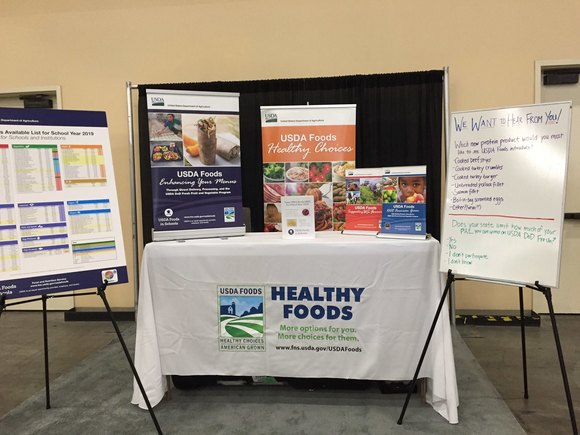 USDA Foods booth at SNA conference