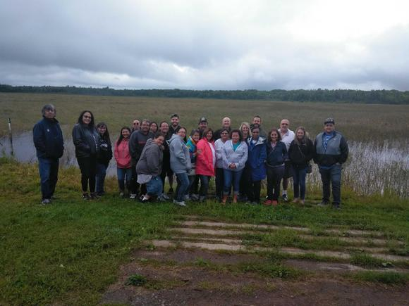 Visit to wild rice lake and processing farm