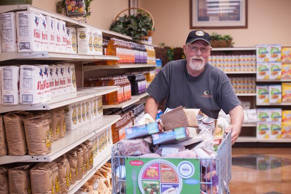 Chickasaw Nation FDPIR client Joe Harris