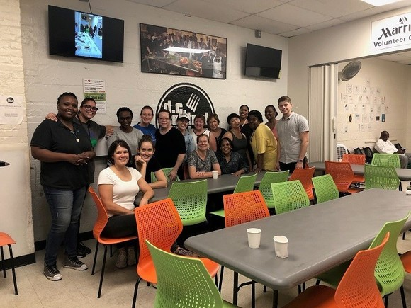 USDA staff volunteer at D.C. Central Kitchen