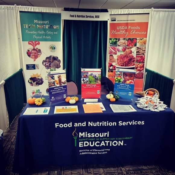 Missouri Department of Education, Food and Nutrition Services booth