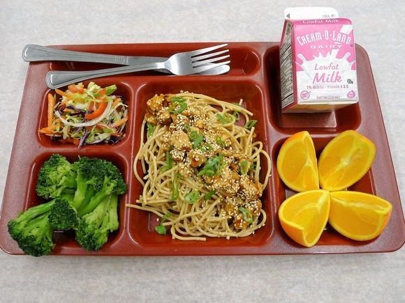 USDA Foods Gold Tray Award winner - Teriyaki Chicken over Noodles