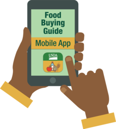theme art of Food buying guide mobile app