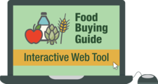 theme art for food buying guide interactive web tool