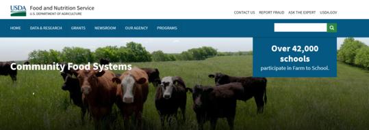 Header of USDA OCFS website