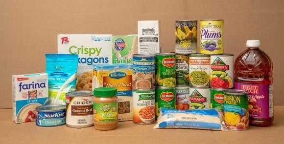 sample CSFP food package as of November 1, 2019