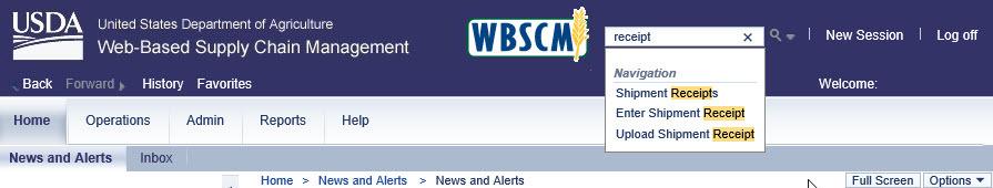 wbscm search