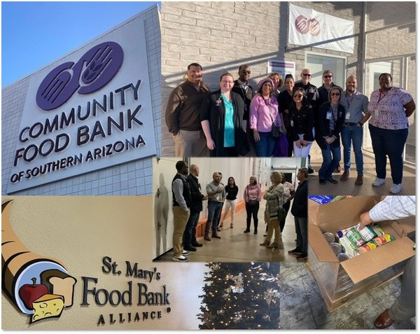 Photo Collage of Food BAnk Visit