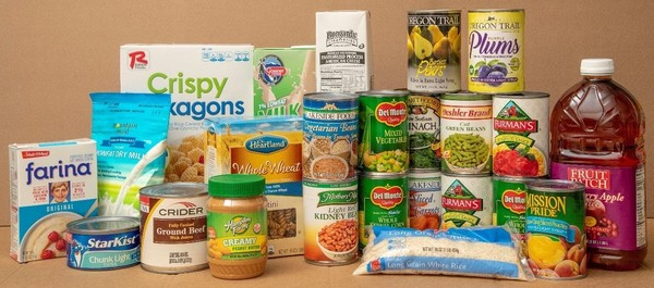 Photo of foods included in the new CSfP food package