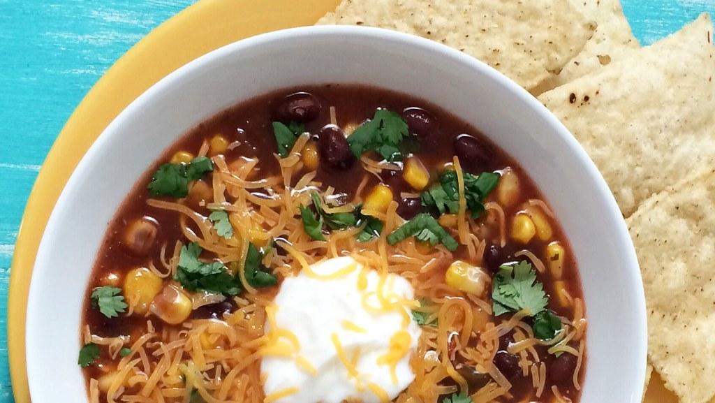 Image of black bean soup