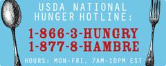 USDA Hunger Hotline