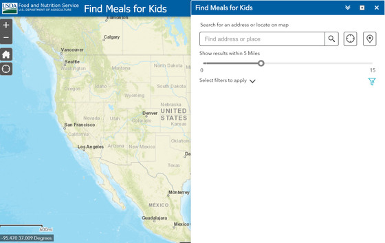 Find Meals for Kids site finder