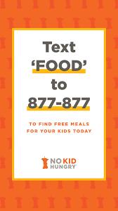 No Kid Hungry texting hotline
