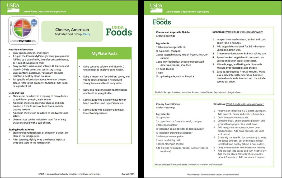 new food factsheet