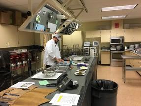 Chef doing a recipe demo