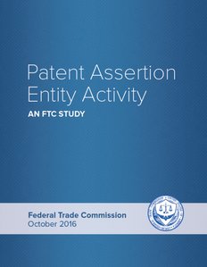 Patent Assertion Entity report