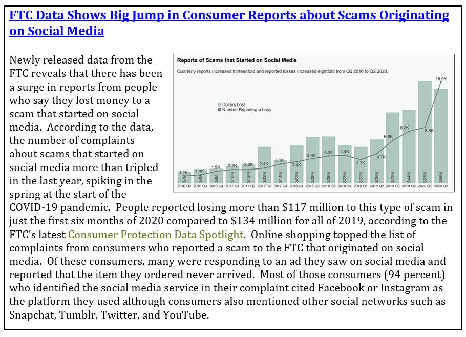 Scams originating on social media