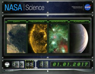 NASA Science Wall Calendar 2017