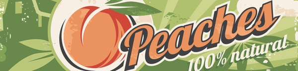Nutrition banner: Peaches. 100% Natural.