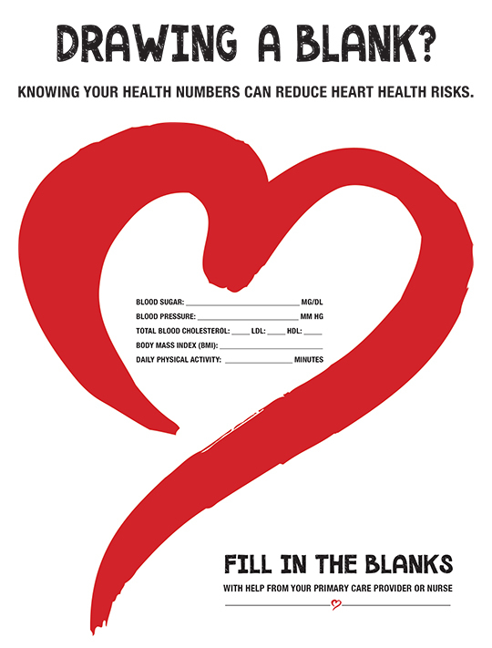 Drawing a Blank? Knowing your health numbers can reduce heart health risks.