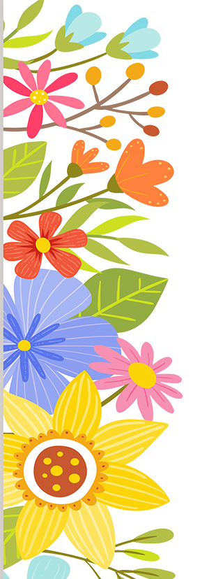 colorful flowers illustration.