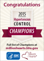 Congratulations 2015 Hypertension Control Champions