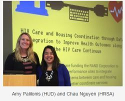 Amy Palilonis (HUD) and Chau Nguyen (HRSA)