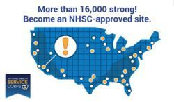 More than 16,000 strong! Become an NHSC-approved site.