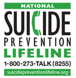 1-800-273-TALK (8255) Suicide Prevention Lifeline