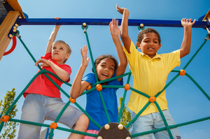 Child Health Day image - children in the playground