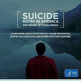 Suicide rates in America are higher in rural areas.