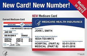 Image comparing the new and old medicare cards