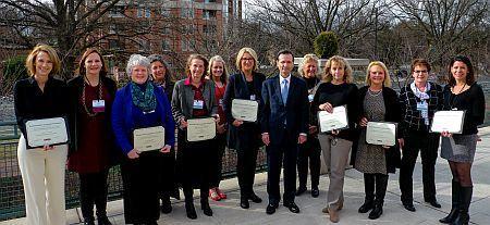 HRSA Administrator George Sigounas, MS, Ph.D. 2018 Rural Health Champion awardees.