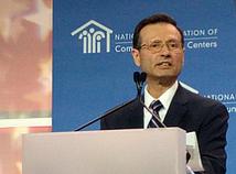 HRSA Administrator Dr. George Sigounas, MS, Ph.D. addressing NACHC