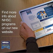 Screenshot of the new NHSC website