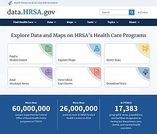 screen capture of the new data.hrsa.gov website