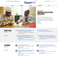 thumbnail image of the new target hiv homepage